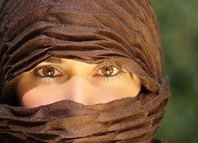 Rostro de mujer de Marruecos
