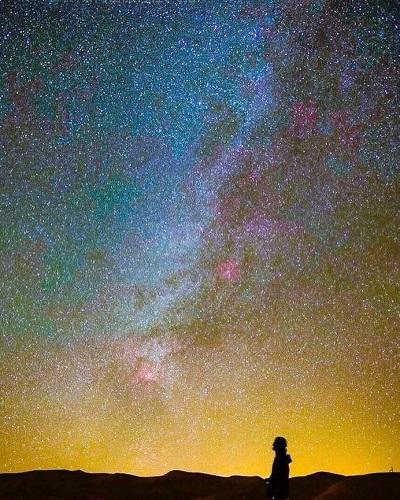 cielo estrellado el desierto de Marruecosecos