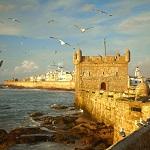 Fuerte en Essaouira al borde del mar. Marruecos